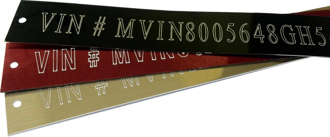 Vin Plates - Botkin Trophies & Laser Engraving